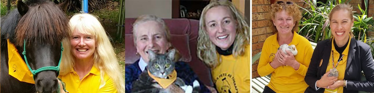 pets as therapy visits ith horse, cat, birds