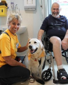 pet animal assisted therapy in nursing homes and hospitals