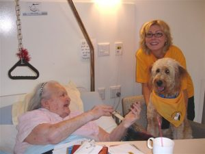 Velmas Pets As Therapy hospital visit